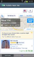 Screenshot of Hotels Near Me