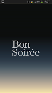Bon Soirée menu app- screenshot thumbnail