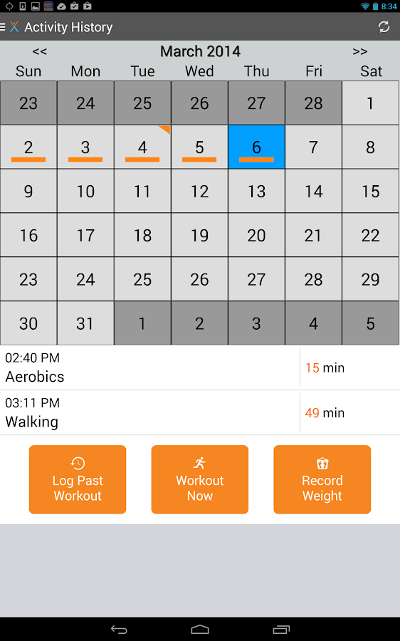 NexTrack: Making Exercise Fun - screenshot