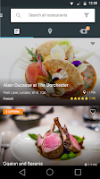 Screenshot of Bookatable Restaurant Bookings