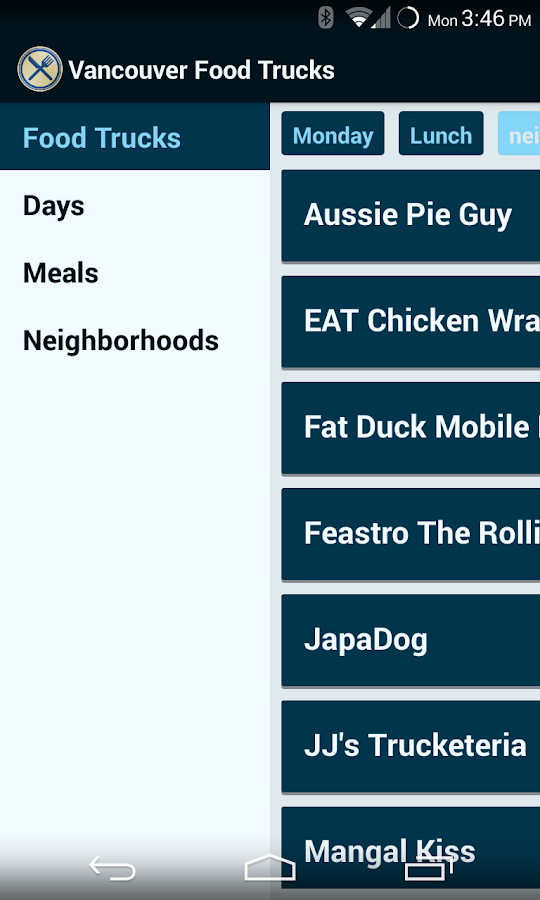 Vancouver Food Trucks - screenshot