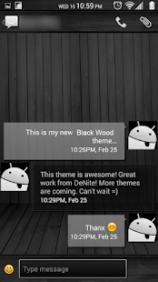 Black Wood White CM11 Theme - screenshot thumbnail