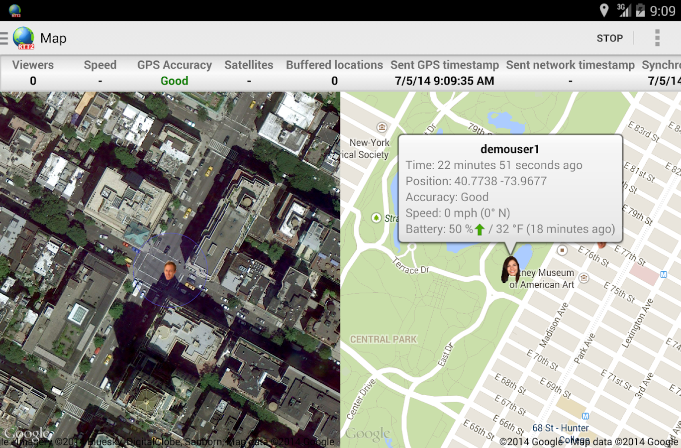 Real-Time GPS Tracker 2 - RTT2 - screenshot