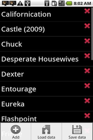 TV Shows- screenshot