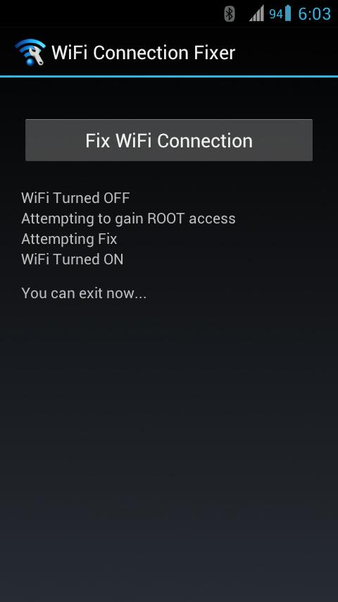 WiFi Connection Fixer *ROOT*- screenshot