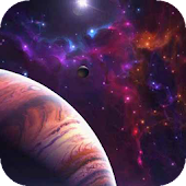 Planet on a colorful sky LWP