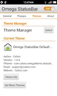 Omega StatusBar Screenshot 4