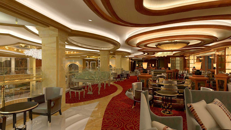 Have a drink or meet new friends at Crooner's, the cocktail lounge aboard Royal Princess.