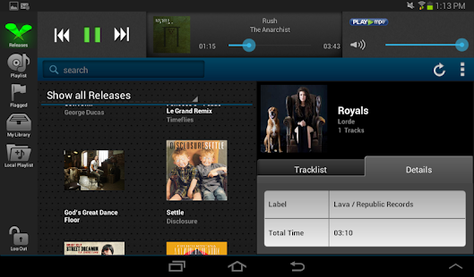 Play MPE® Player - Tablet- screenshot thumbnail
