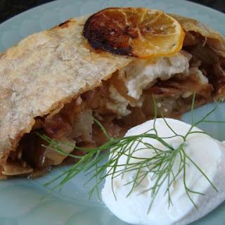 Caramelized Fennel and Onions with Feta in a Puff Pastry Log Recipe