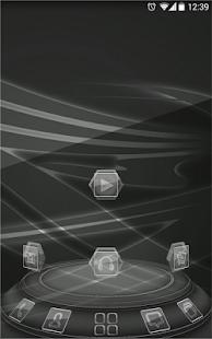 [Next launcher theme BlackGlass] Screenshot 3