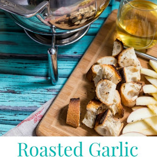 Roasted Garlic Cheese Fondue.