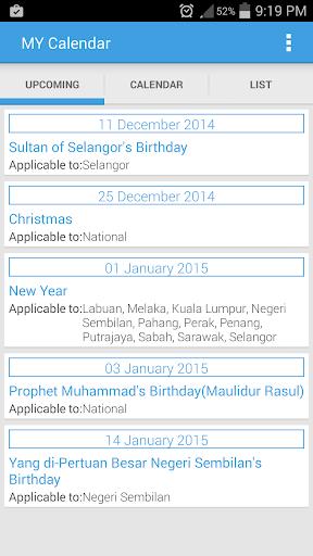 Malaysia Calendar