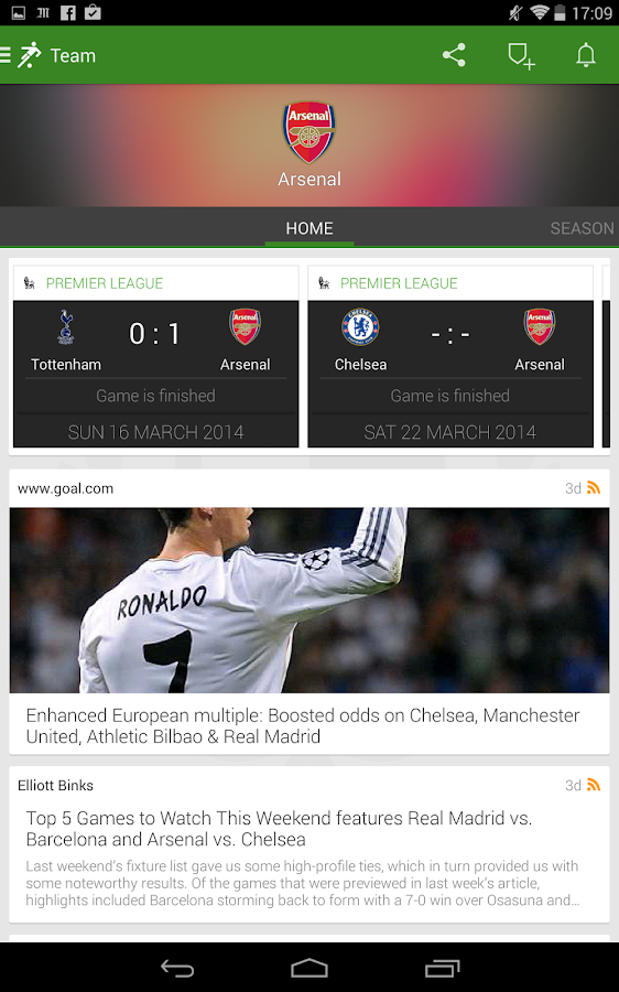 Onefootball (THE Football App) - screenshot