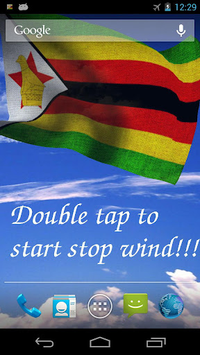 3D Zimbabwe Flag LWP