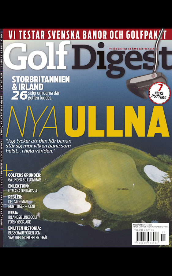 Golf Digest– skärmdump