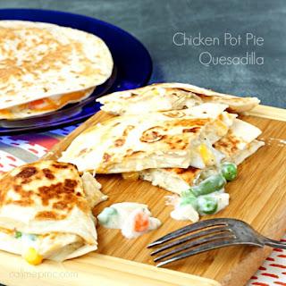 Chicken Pot Pie Quesadilla.