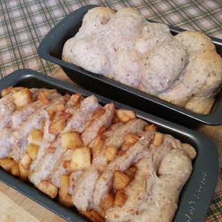 Apple pull apart bread + Apple monkey bread! (vegan).