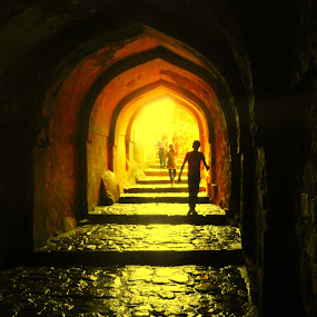 Enter the Fort by Vikas Jorwal - City,  Street & Park  Historic Districts ( ranthambore, rajasthan, vikas, fort, historic, tunnel,  )