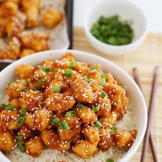 Crispy Baked Honey Garlic Chicken.