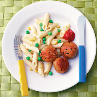 Tuna Balls With Pea & Sweetcorn Pasta