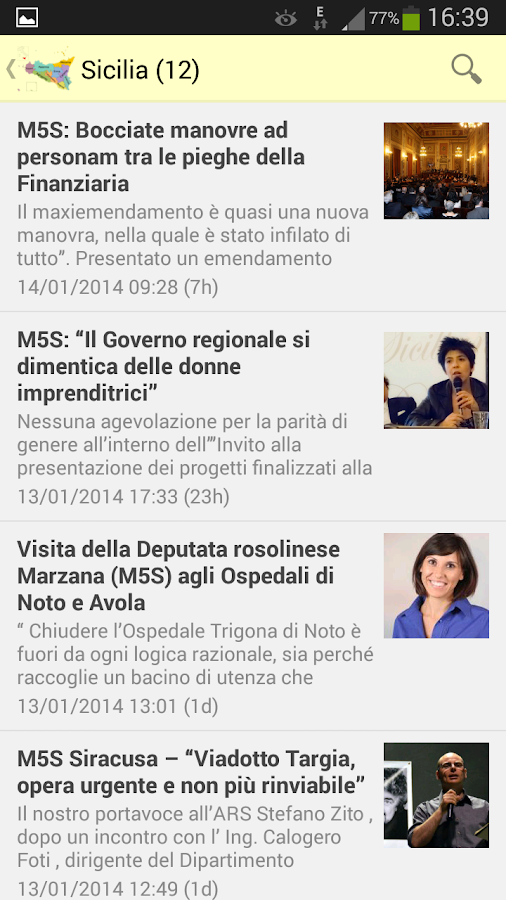 Regioni 5 Stelle- screenshot