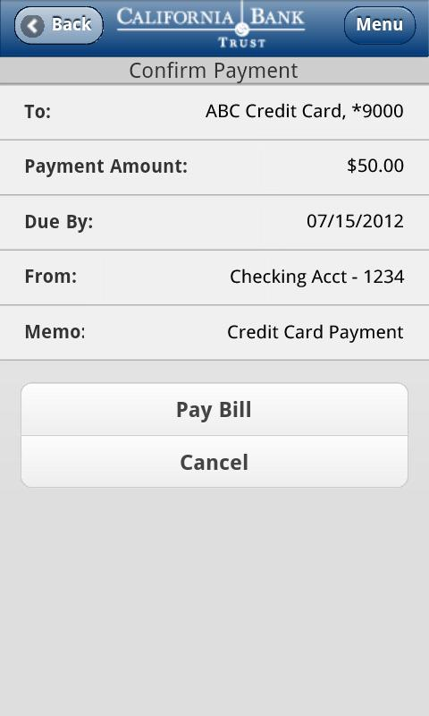 CBT Mobile Banking - screenshot