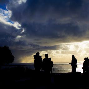 Silhoutte by Reon Rich - City,  Street & Park  Street Scenes ( clouds, sunset set, signal hill, silhoutte,  )