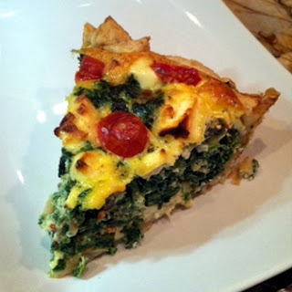 Feta, Spinach and Tomato Quiche