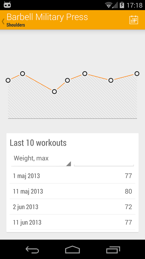 Dumbbell - Gym Log- screenshot