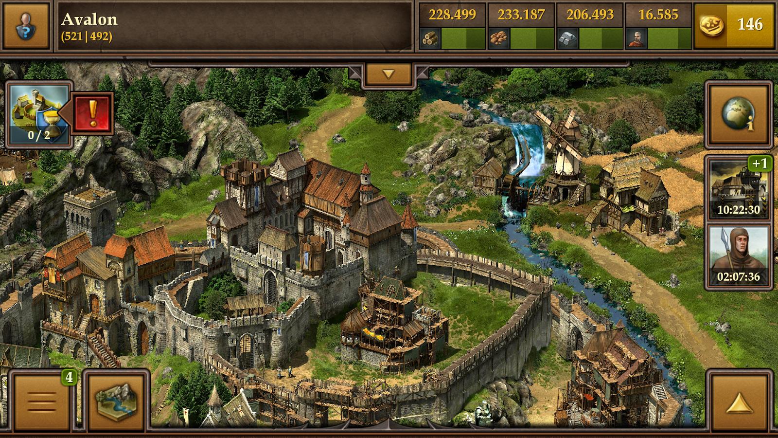 Богатая и развитая деревня с большим пшеничным полем и мельницей