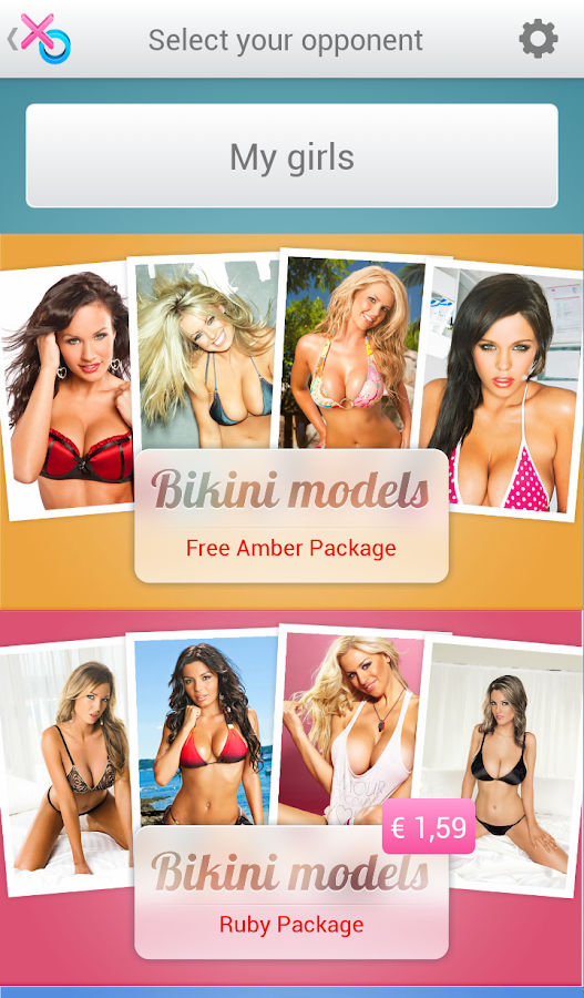 XXO Bikini Models Tic Tac Toe - screenshot