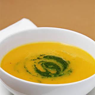 Winter Squash Soup with Citrus-Mint Pesto.