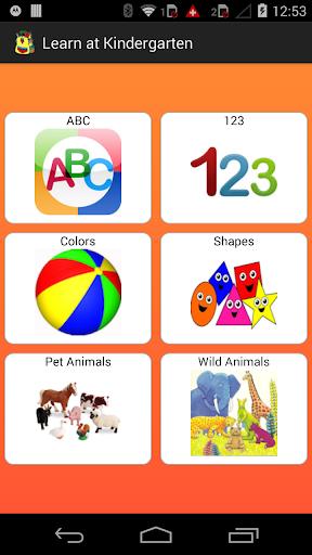 Learn at Kindergarten