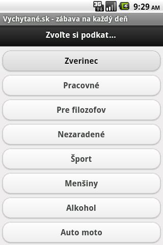 Vychytane.sk - screenshot