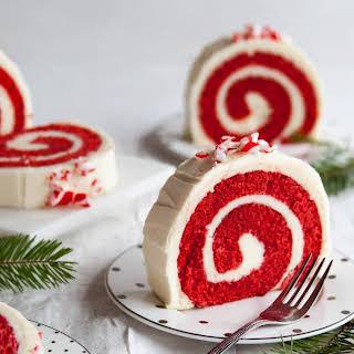 Peppermint Red Velvet Cake Roll.
