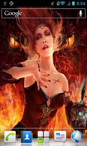 Girl and Dragon LWP
