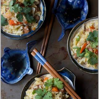 Vietnamese 'Faux' Fried Rice (Cauliflower) with Nuroc Cham Sauce.