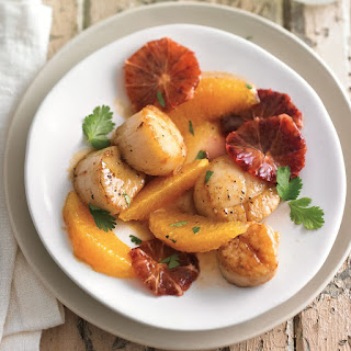 Pan-Seared Scallops with Sautéed Oranges