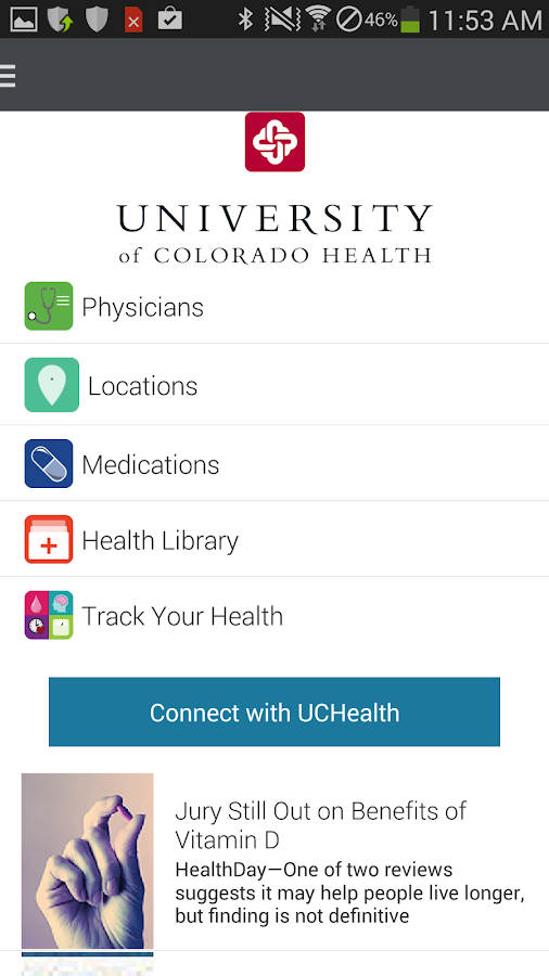 University of Colorado Health - screenshot