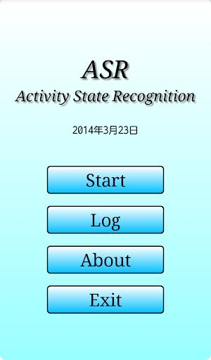 歩行状態推定アプリ ASR
