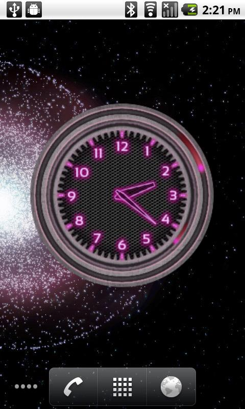 10 Pink Neon Clocks - screenshot