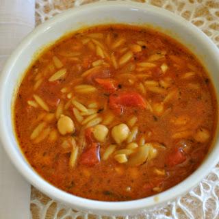 Garbanzo Bean & Tomato Soup.
