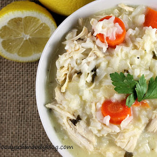 Greek Lemon Rice Soup with Chicken.
