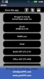 WVBR + CornellRadio.com - screenshot thumbnail