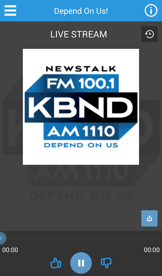 KBND radio- screenshot