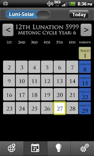 WLC Biblical Calendar- screenshot thumbnail