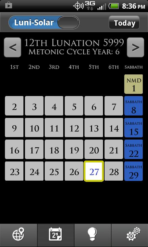 WLC Biblical Calendar- screenshot