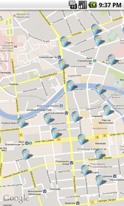 Hotspotfinder Berlin - screenshot