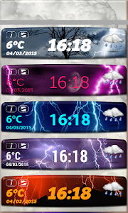 Storm Weather Clock Widget screenshot 1